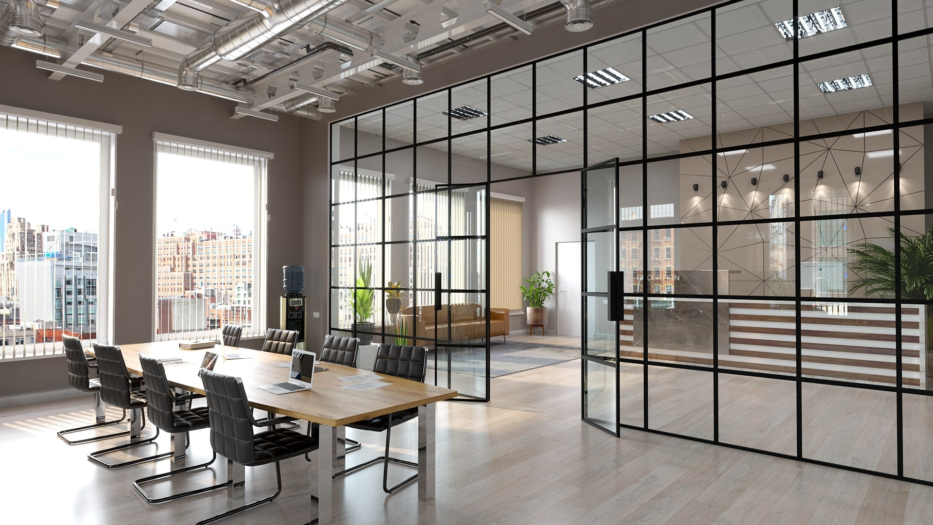 Custom Steel Glass Partitions