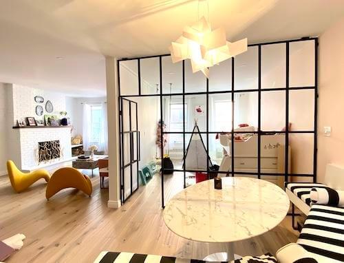 Luxurious Loft: Custom Steel & Glass Partitions
