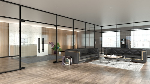 Clear glass Vs. frosted glass partition