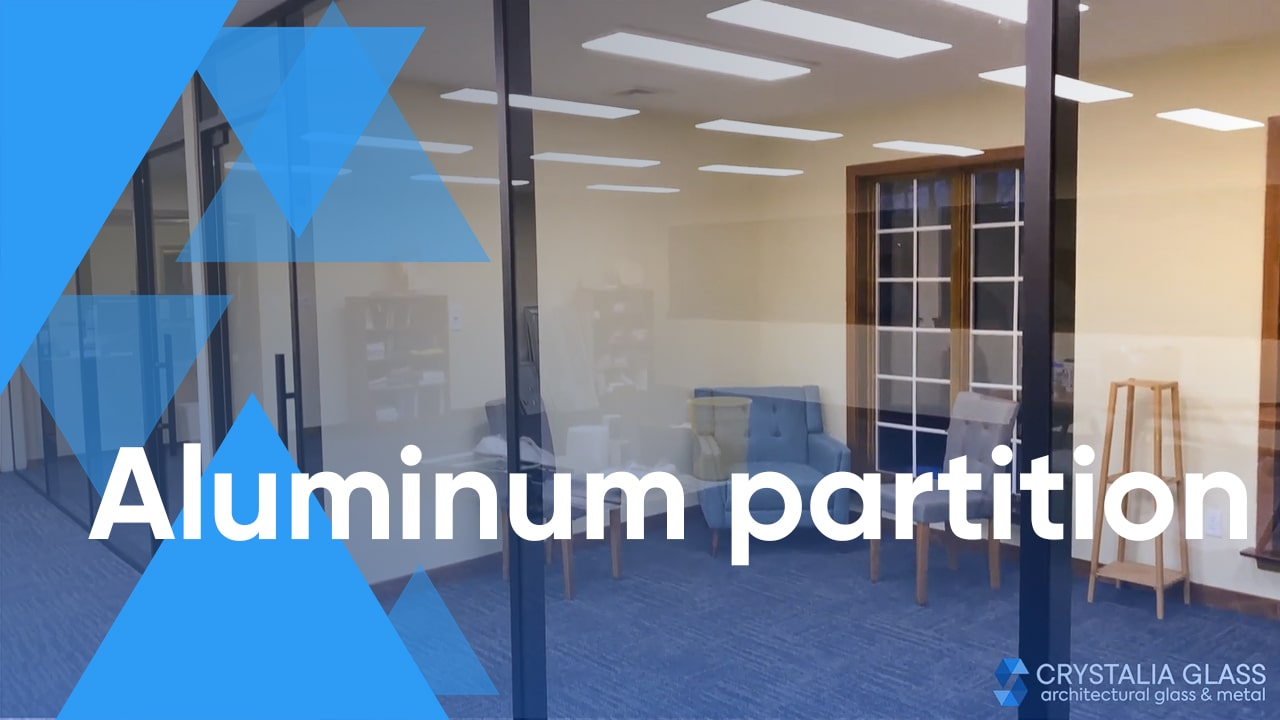 A great solution for your office – Aluminum Glass Partition by Crystalia Glass