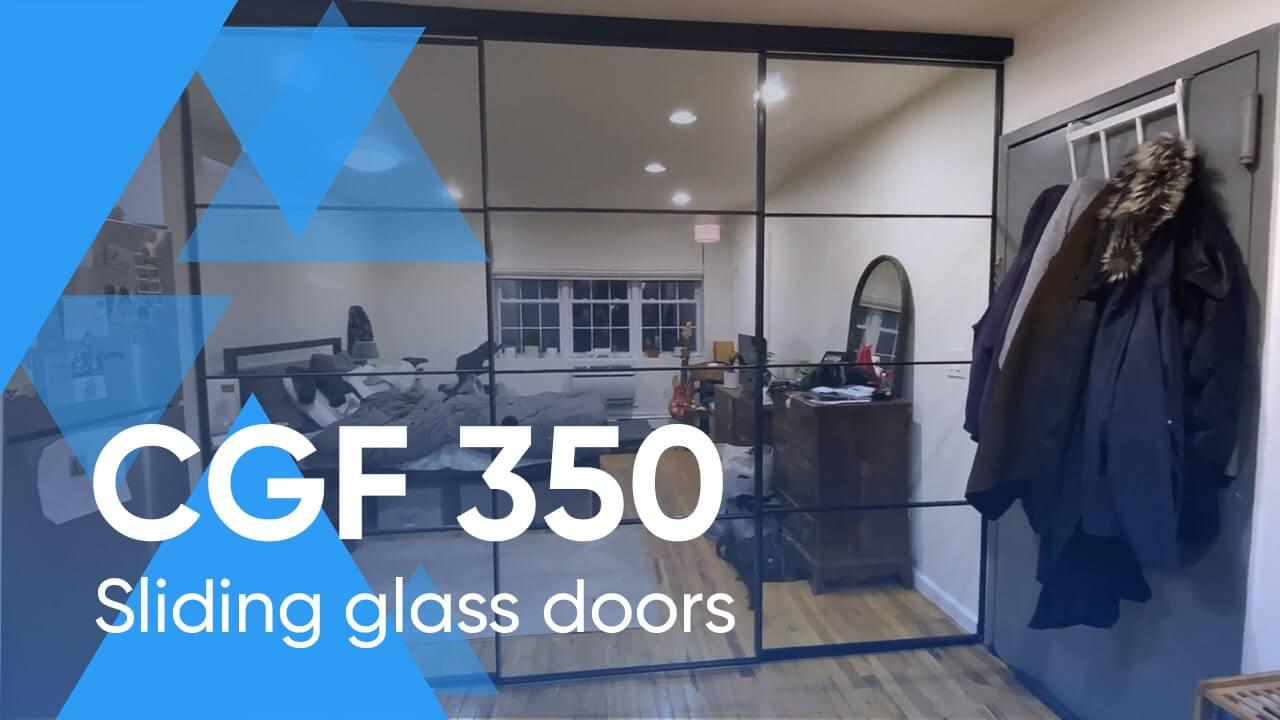 Stunning Sliding Glass Door System CGF-350 in a Brooklyn Condo