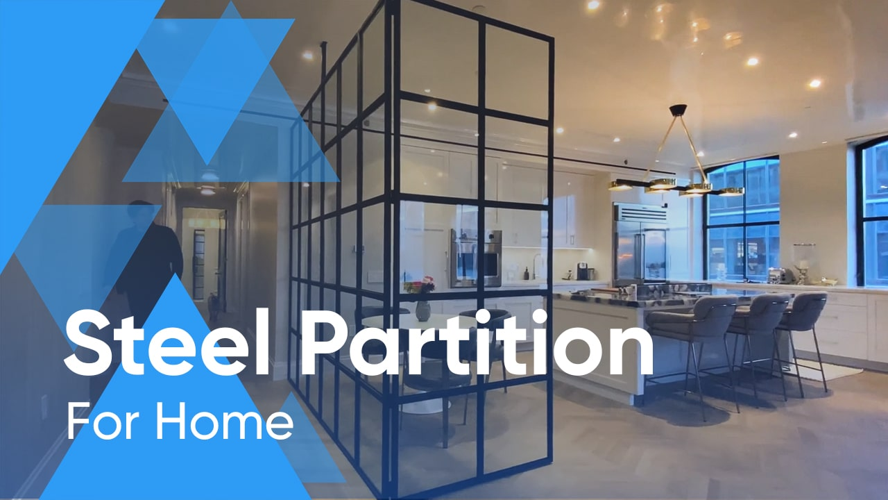 Luxurious Apartment in Manhattan, NY is Transformed With Awesome Steel Partition