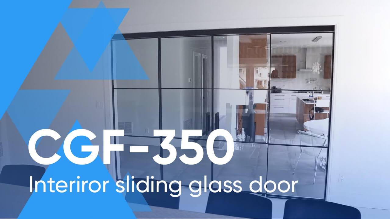 Framed Crystalia Sliding Glass Wall CGF-350