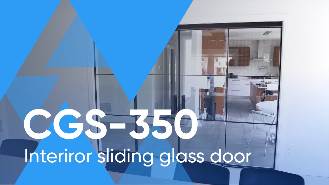 Framed Crystalia Sliding Glass Wall CGS-350
