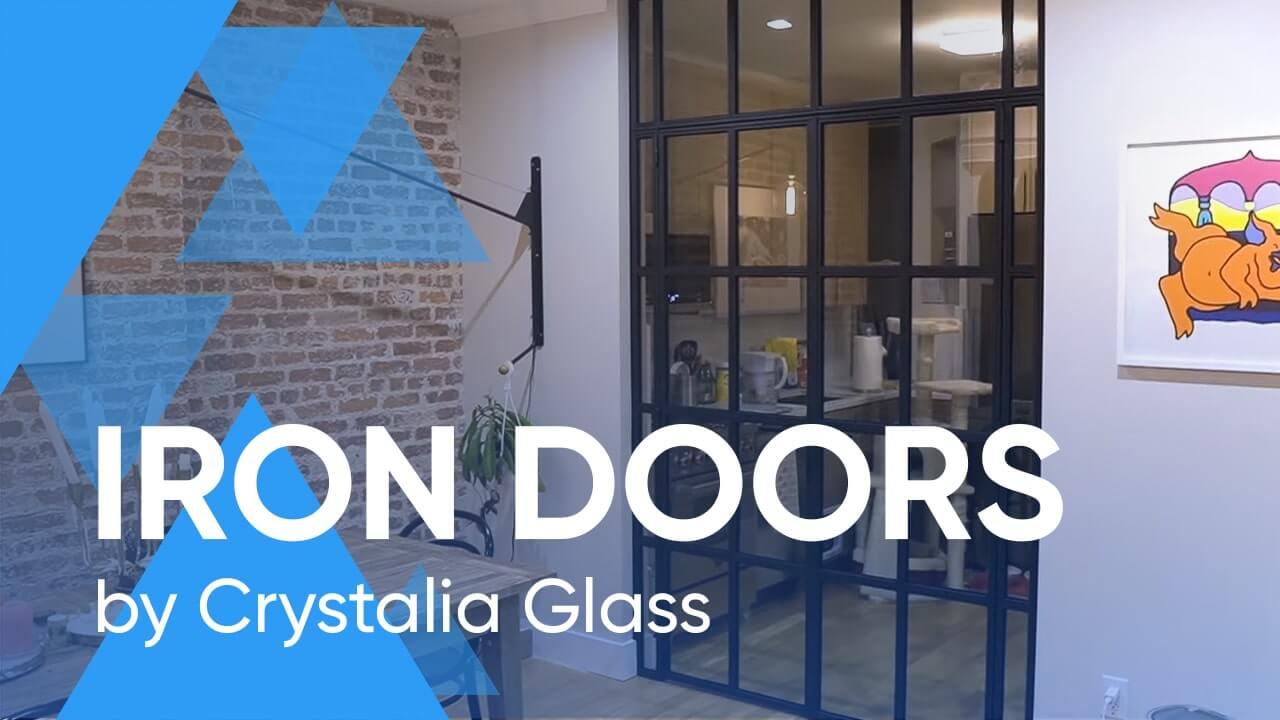Iron Doors by Crystalia Glass