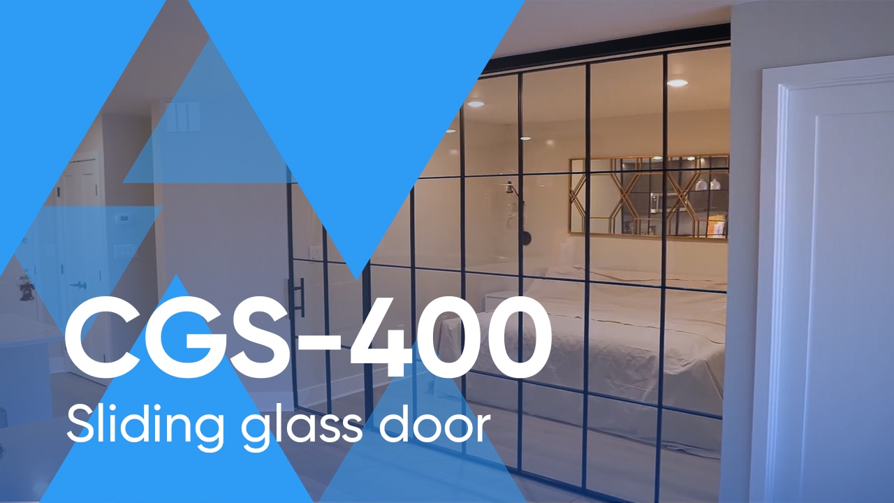 Enclosing a Bedroom with a Framed Glass Wall with a Sliding Door CGF-400