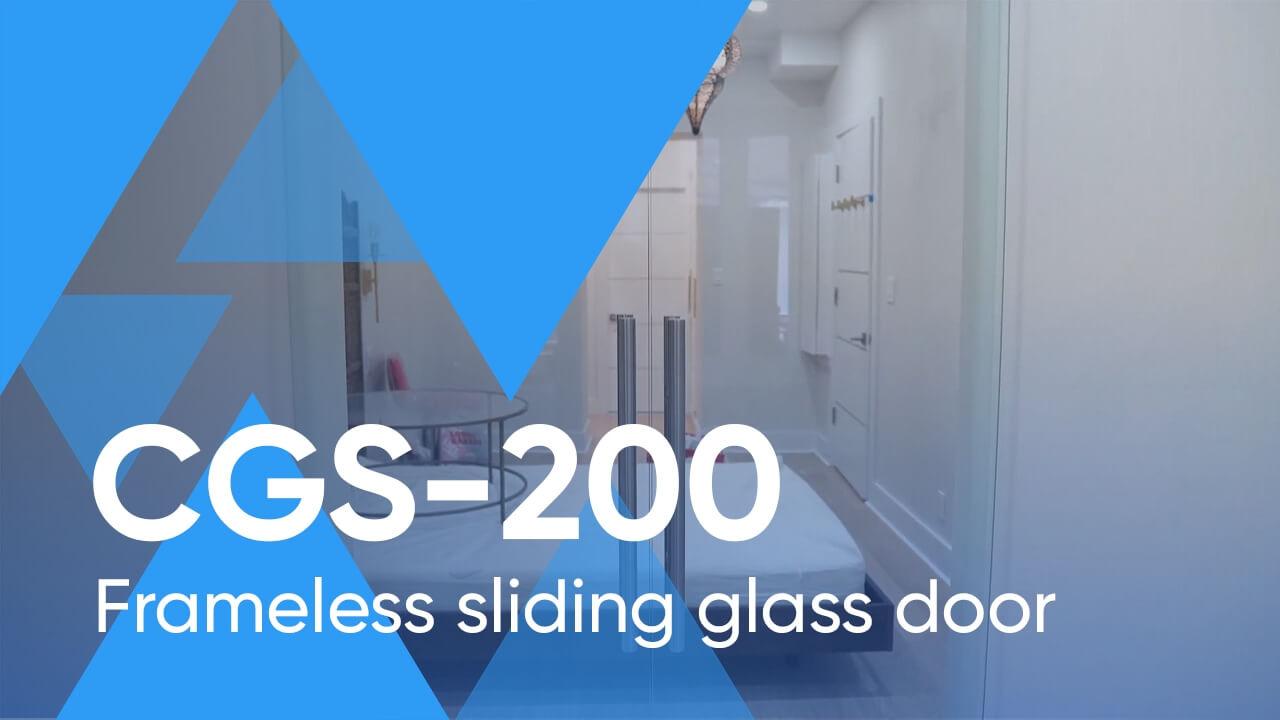 Frameless Sliding Glass Door System CGS-200