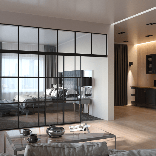 How Glass Partitions Can Improve Modern Loft Interior