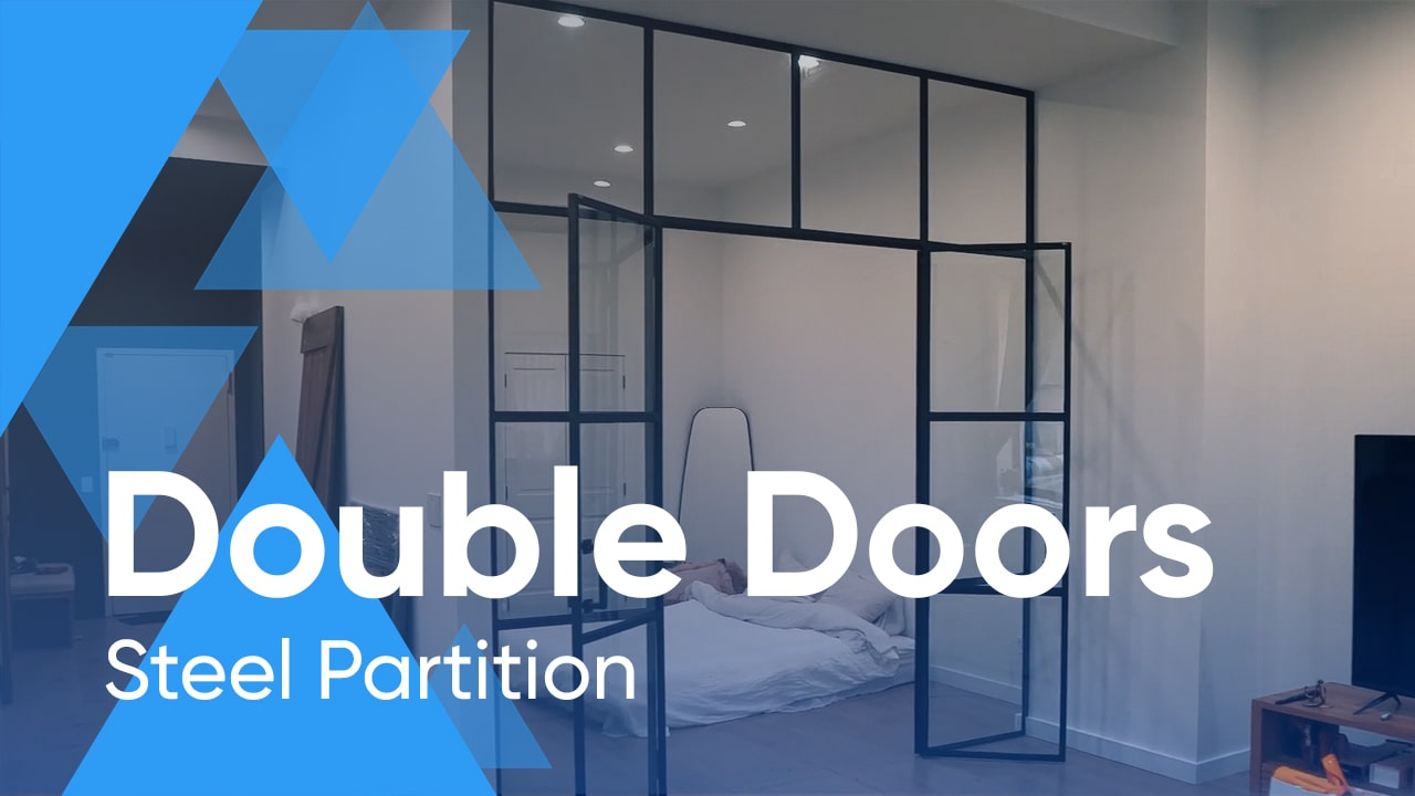 Steel Partition with Double Doors for Residential Project