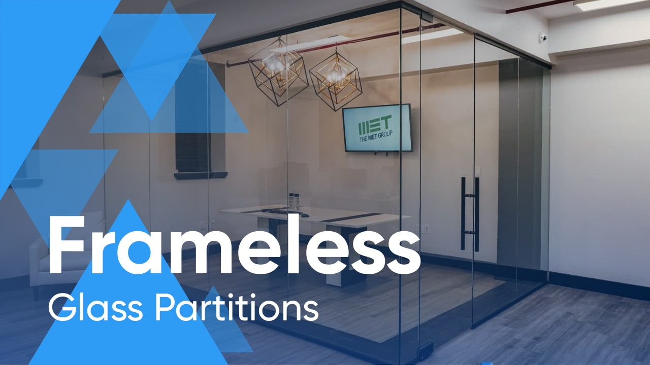 Stylish and Modern Frameless Glass Partitions