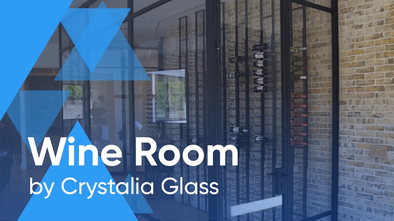 Crystalia Glass Steel Partitions for Wine Rooms