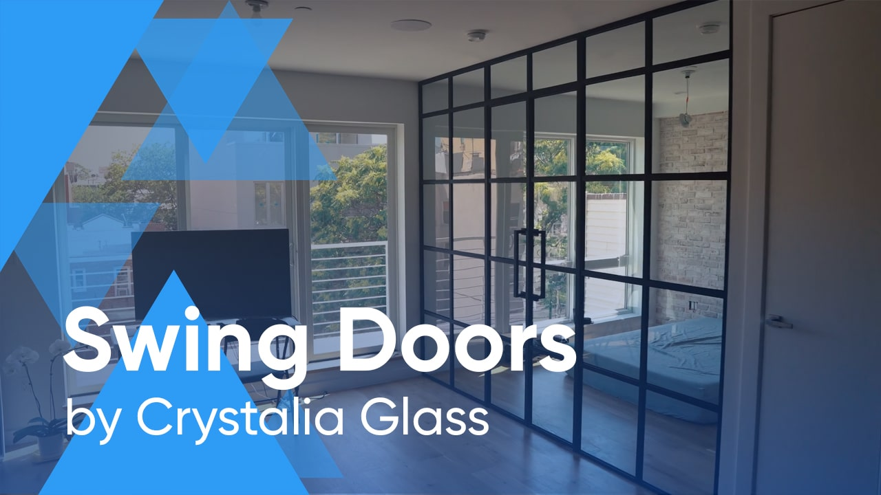 Custom Steel Partition System with Double Swing Doors