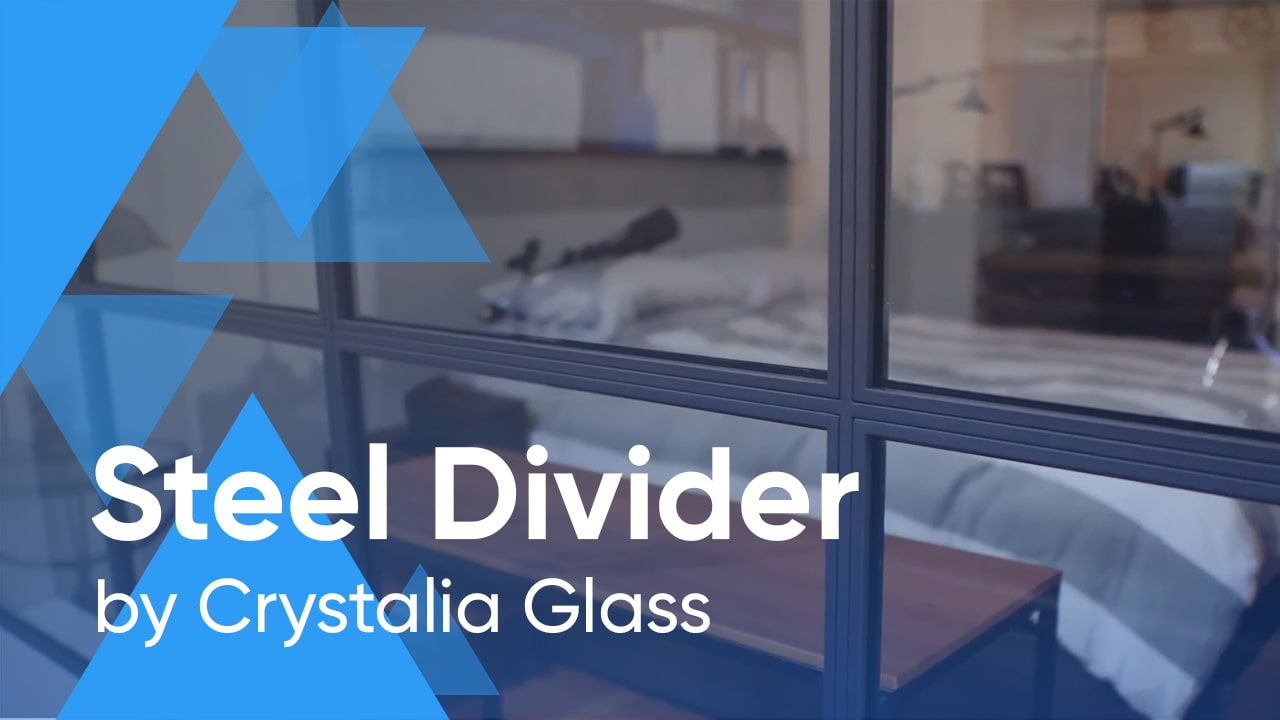 Steel Divider for a Beautiful One Bedroom