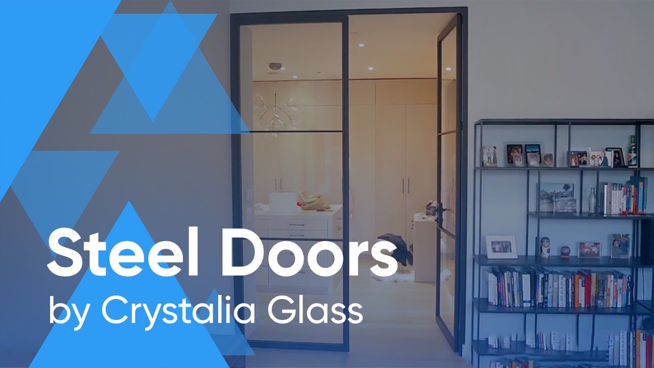 Trevi Steel and Glass Doors for a Bedroom