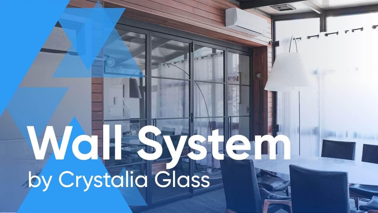 Crystalia Steel and Glass Bi-folding Wall System
