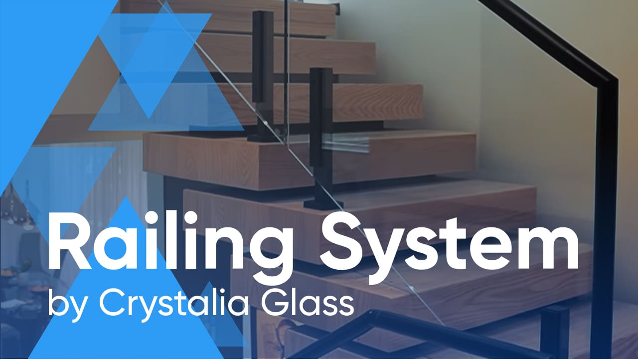 Contemporary Glass Railing System by Crystalia